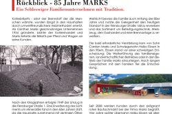 Rückblick - 85 Jahre MARKS in Schleswig