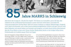 Kompass - 85 Jahre MARKS in Schleswig